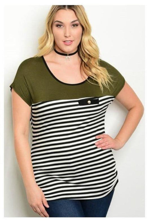 Striped Essential Tank, Plus Size - RMC Boutique  - 1