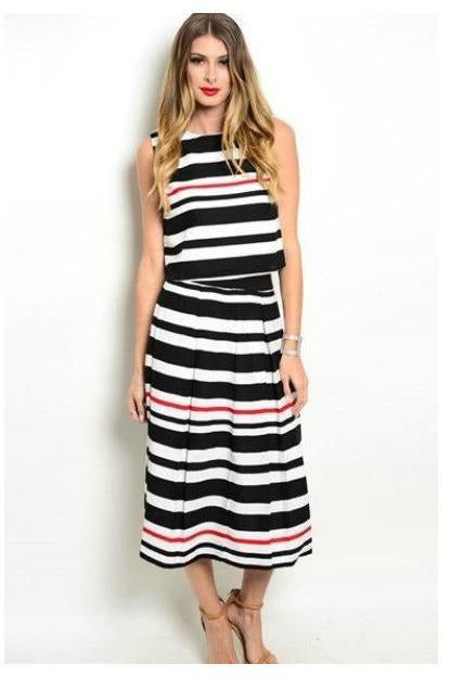 Striped to Perfection A Line Skirt - RMC Boutique
