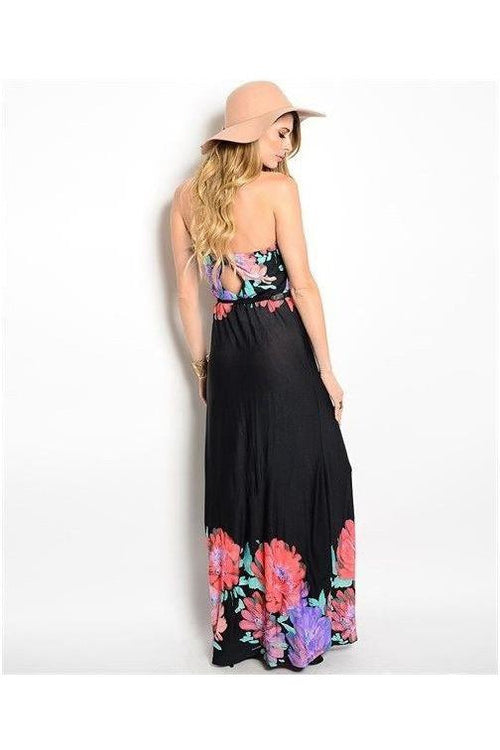 Midnight In The Garden Maxi Dress - RMC Boutique