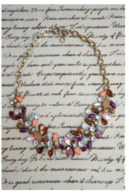 """Sweeter than Peach and Plum"" Statement Necklace - RMC Boutique"