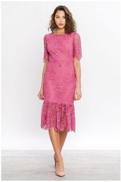 Lipstick Pretty, Lace Dress - RMC Boutique