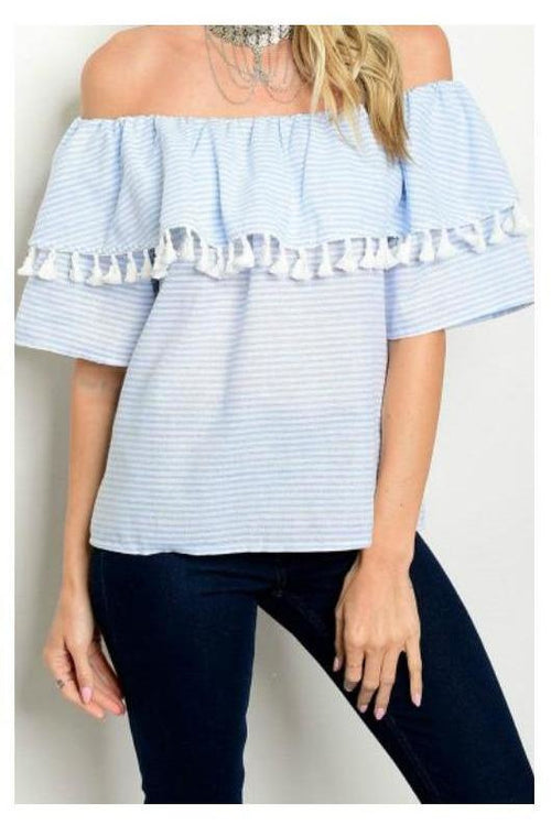 Tassel Dazzle Island Retreat Top