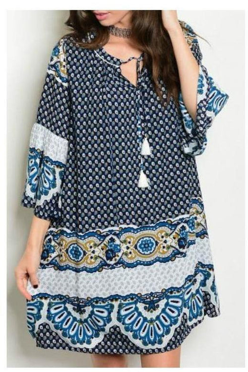 West Indies Paisley Print Tunic Dress