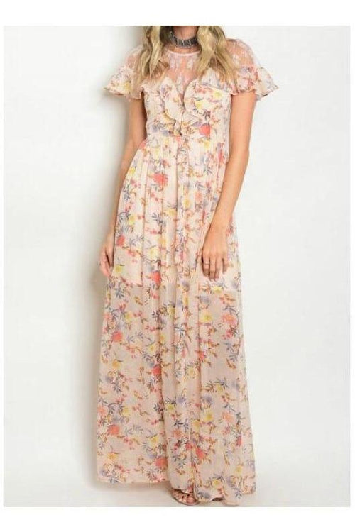 Wonderful and Whimsical Floral Maxi Dress
