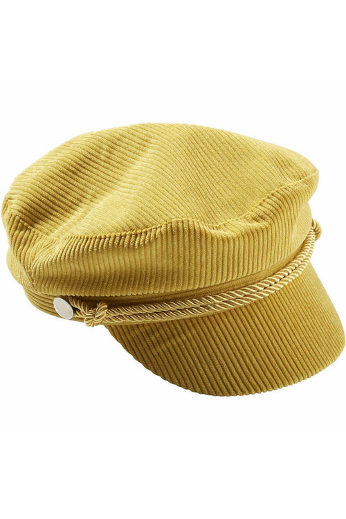 Tickled Pink - Mustard Corduroy Newsboy Cap - RMC Boutique