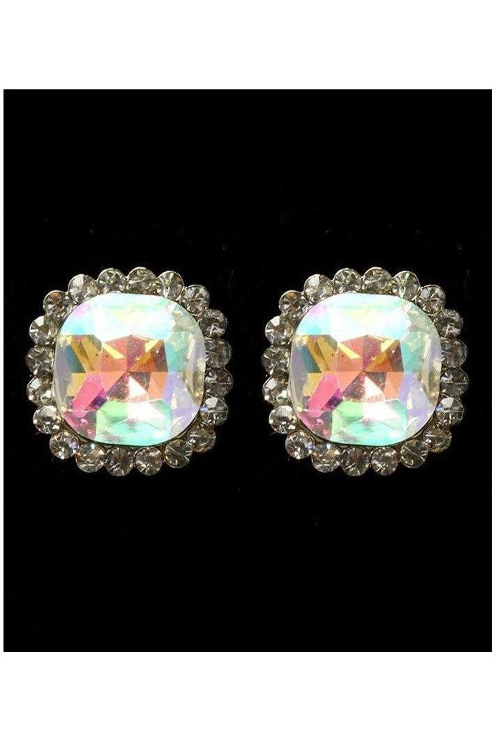 Cushion Cut Crystal Studs - RMC Boutique