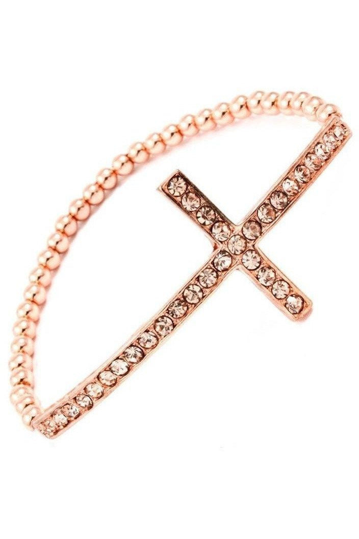 Round Bead- Cross Bracelet - RMC Boutique