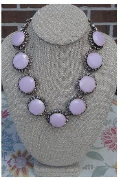 Beautiful Encounter Statement Necklace (Blush Pink) - RMC Boutique