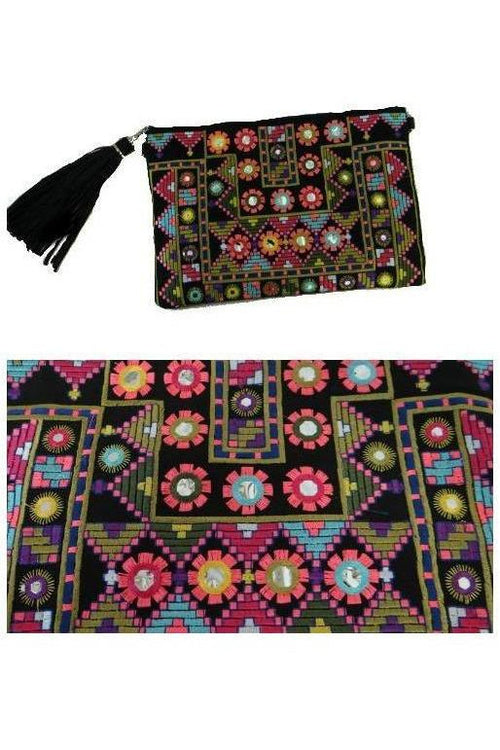 Sew Perfect Embroidered Clutch - RMC Boutique