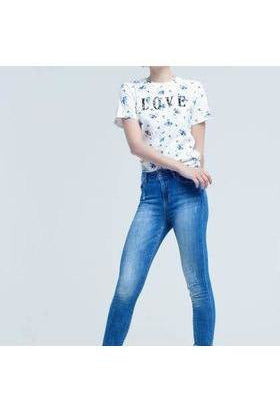 Crinkle-Effect Skinny Jeans - RMC Boutique