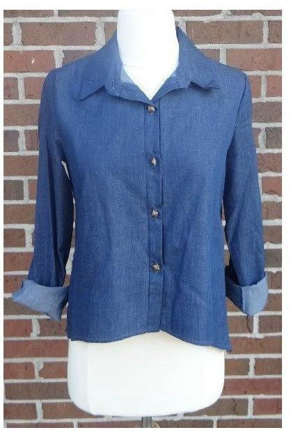 Dress Blues Denim Top - RMC Boutique