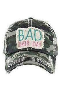Bad Hair Day Camo Snap Back hat
