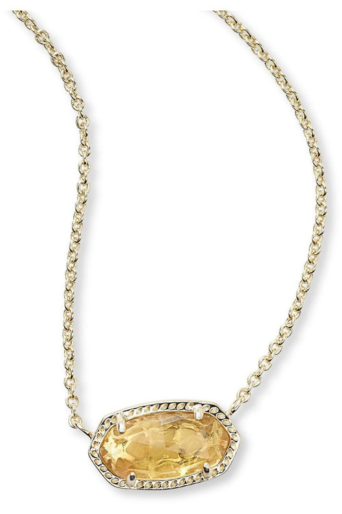 Kendra Scott: Elisa Pendant Necklace In Citrine