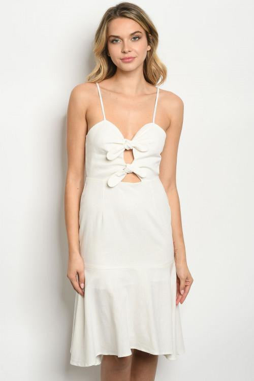 Forget me knot white ruffle dress - RMC Boutique