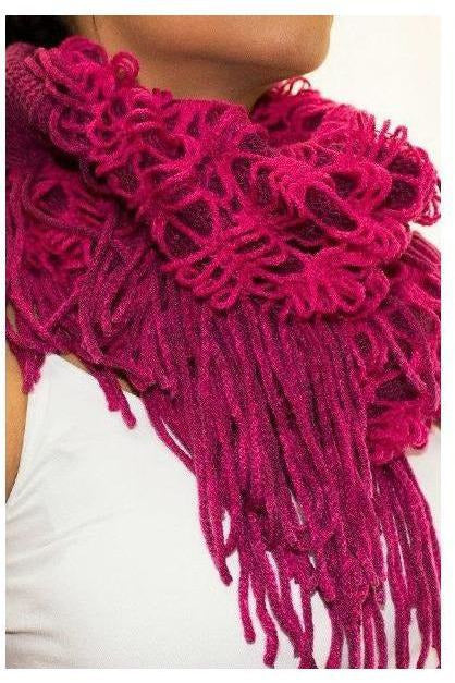 Crochet Queen Scarf Fuschia - RMC Boutique