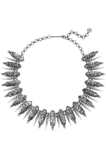 GWENDOLYN STATEMENT NECKLACE IN CRUSHED BLACK PEARL - RMC Boutique