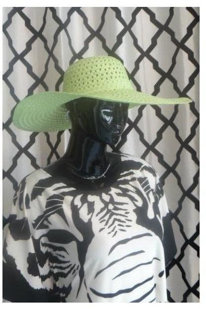 """Summer Time Fine' Floppy Hat (lime green) - RMC Boutique"