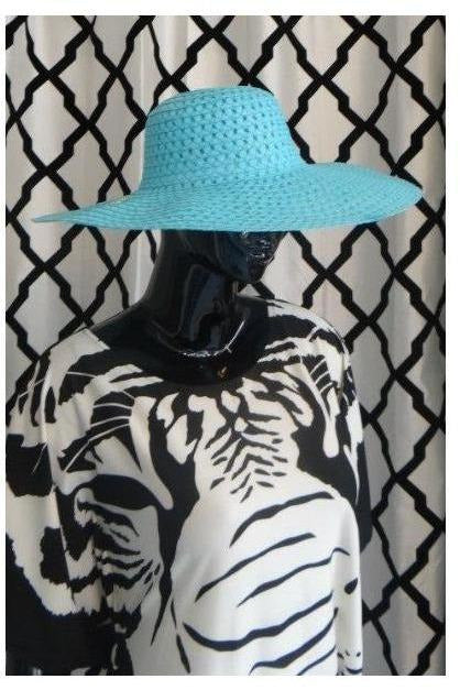 """Summer Time Fine' Floppy Hat (sky blue) - RMC Boutique"