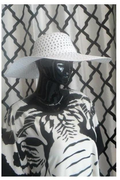 """Summer Time Fine' Floppy Hat (white) - RMC Boutique"