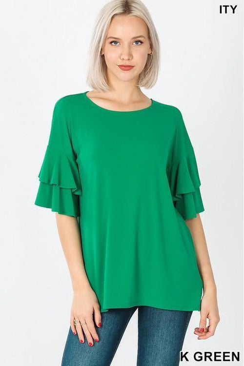 All The Pretty Things, Ruffle Sleeve Top - RMC Boutique