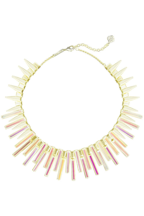 KAPLAN GOLD STATEMENT NECKLACE IN DICHROIC GLASS - RMC Boutique