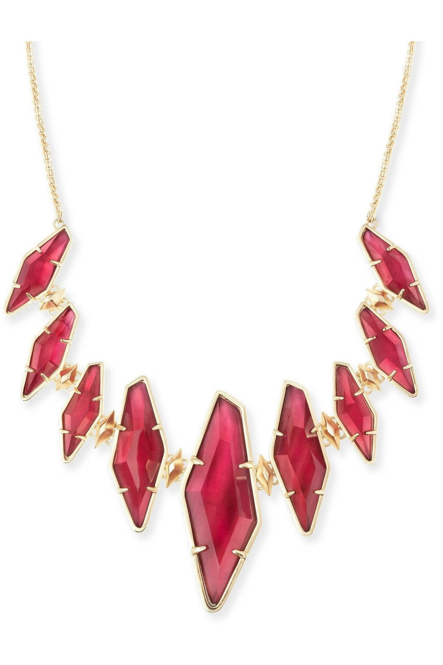 Kendra Scott: Berniece Gold Collar Necklace In Burgundy Illusion - RMC Boutique  - 1