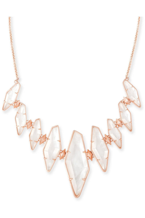 Kendra Scott: Berniece Rose Gold Collar Necklace In Ivory Pearl - RMC Boutique  - 1