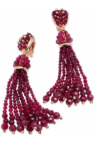 Bali Threaded Straw Statement Earrings