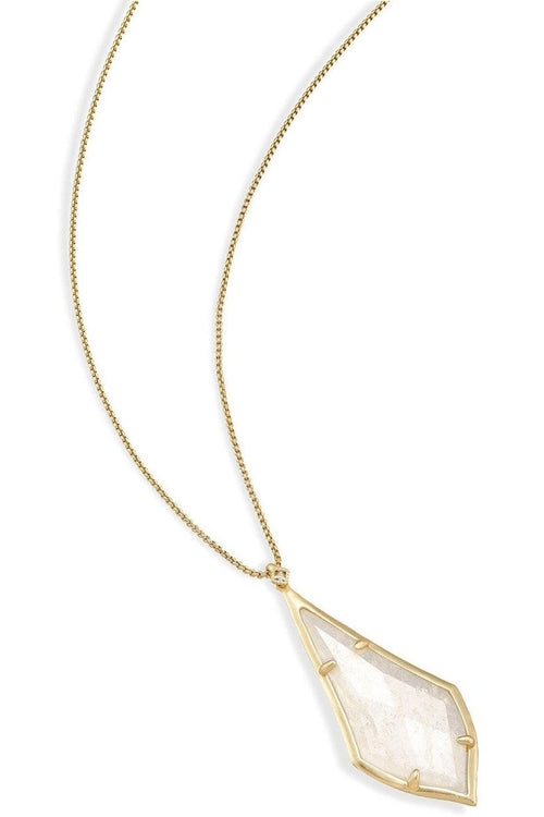 Kendra Scott: Damon Long Pendant Necklace in Rock Crystal