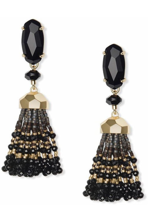 Kendra Scott Dove Earring Gold Black - RMC Boutique