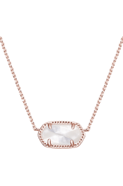 Kendra Scott: Elisa Rose Gold Pendant Necklace In Ivory Pearl - RMC Boutique  - 1