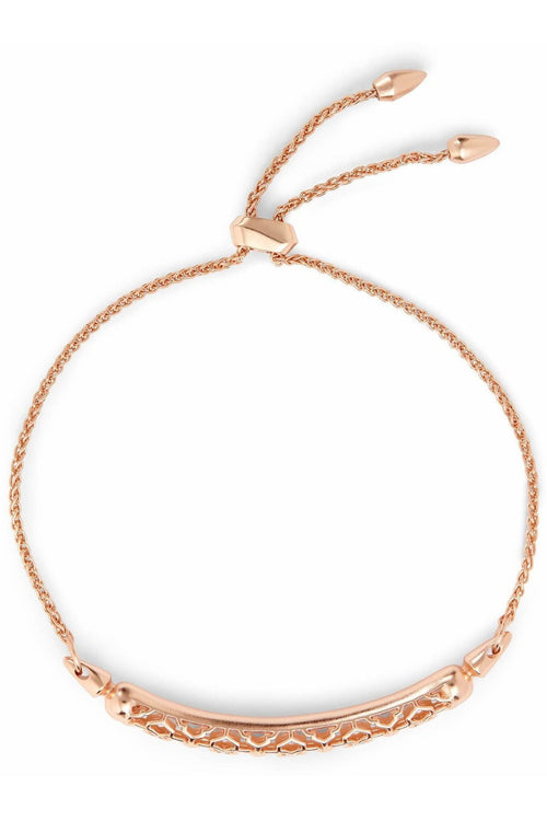 Gilly Rose Gold Link Bracelet In Rose Gold Filigree