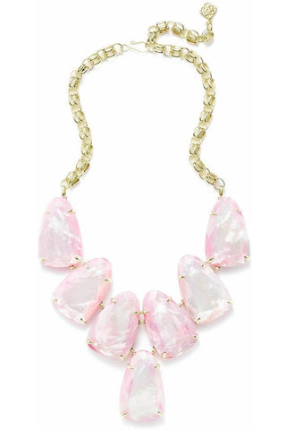 Kendra Scott: Ruth Gold Long Necklace In Ivory Mix
