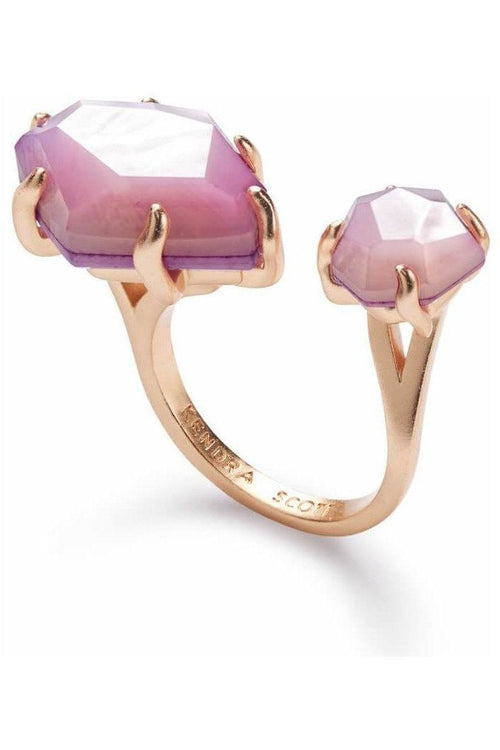 Kendra Scott: Kayla Open Ring In Lilac Mother of Pearl