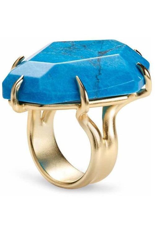 Kendra Scott: Megan Cocktail Ring Aqua Howlite