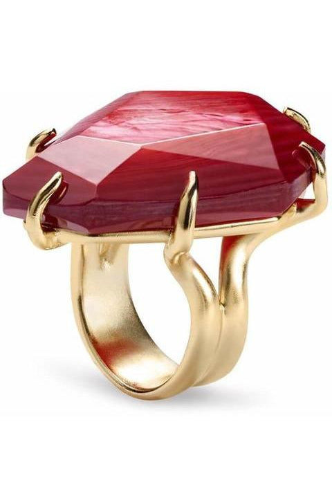 Kendra Scott: Megan Cocktail Ring Red Mother of Pearl