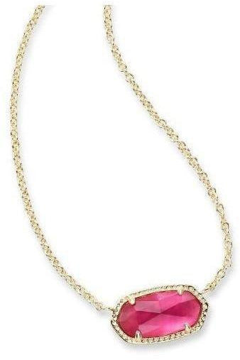 Kendra Scott: Elisa Gold Pendant Necklace in Berry Illusion - RMC Boutique