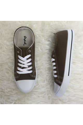Lace Up Sneakers - Khaki - RMC Boutique