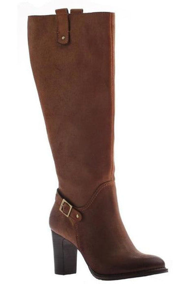 Nicole: Lan Leather Boots In Tobacco - RMC Boutique