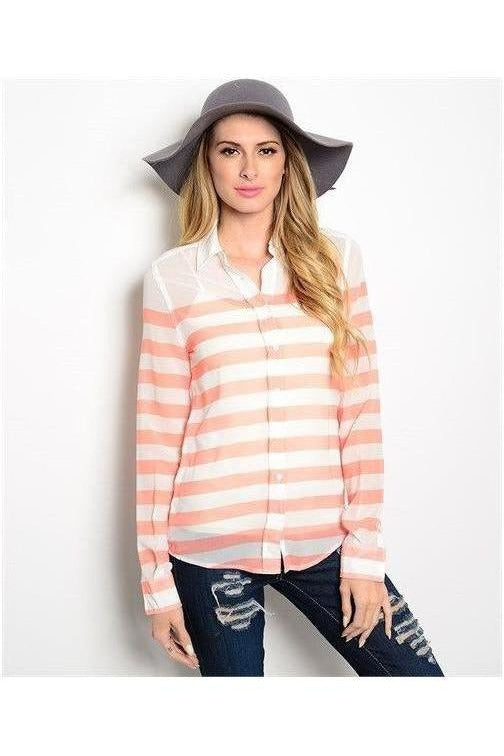 Peaches and Cream Button Up Top - RMC Boutique