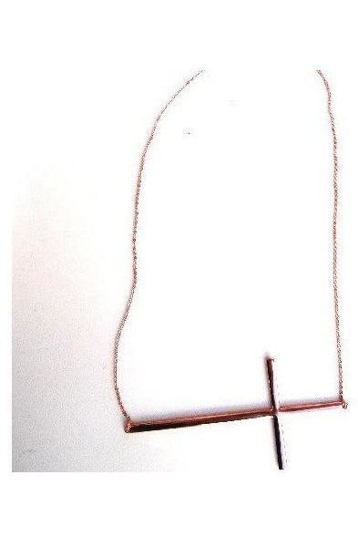 Love Conquers All Cross Necklace-Rose Gold - RMC Boutique