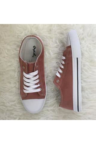 Lace Up Sneakers - Mauve Suede - RMC Boutique