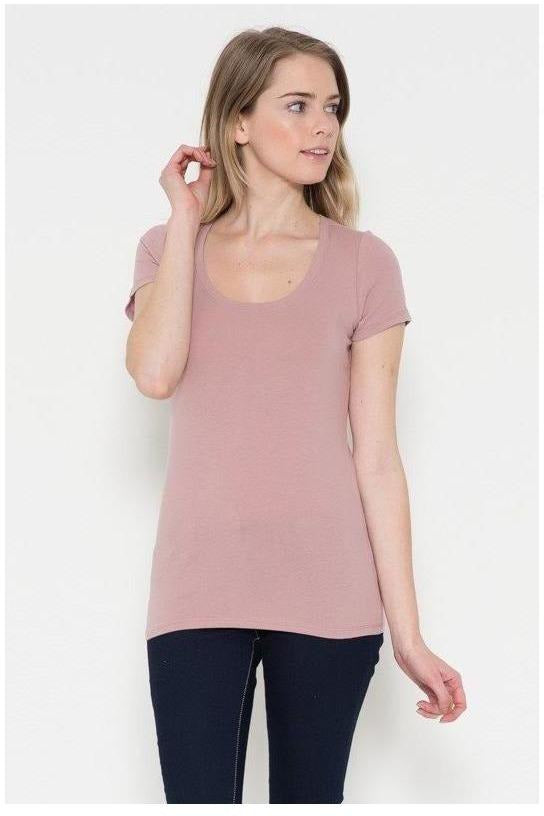 Short Sleeve Scoop Neck Tee - RMC Boutique