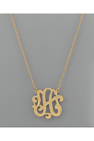 Initial Monogram Pendant Necklace - RMC Boutique