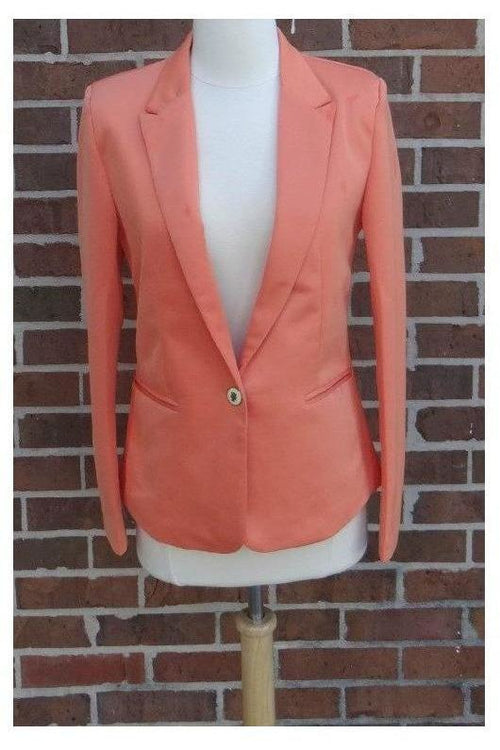 Bright and Cheery Blazer - (peach) - RMC Boutique