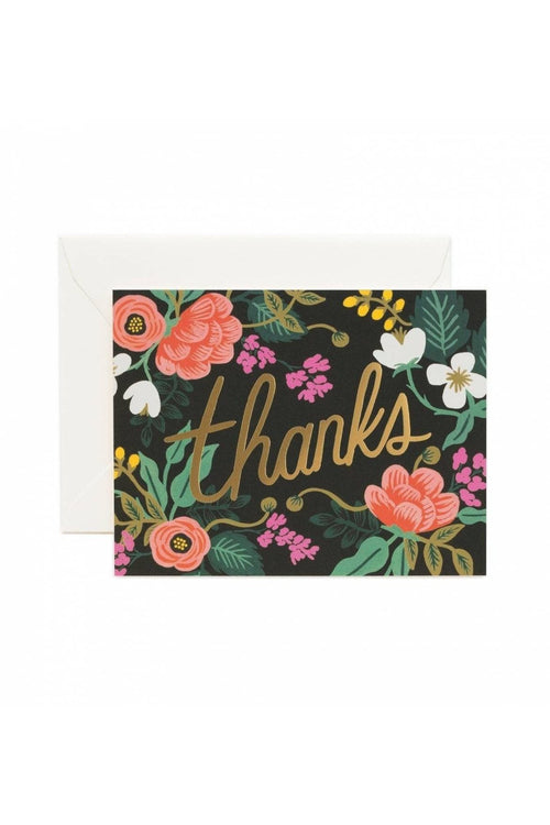 Rifle Paper Co.: Floral Thank You Card - RMC Boutique