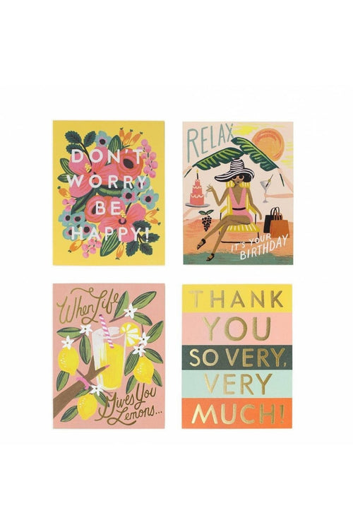Rifle Paper Co.: Happy Assorted Cards - RMC Boutique