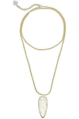 Kendra Scott: Sienna Pendant Necklace In Gold - RMC Boutique  - 1