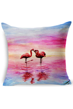 Watercolor Flamingo Decorative PIllow - RMC Boutique