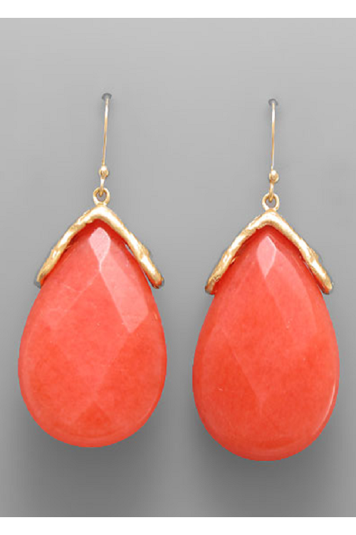 Natural Stone Drop Earrings - RMC Boutique